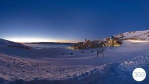 Sunrise pano at Cardrona Alpine Resort by 360nz