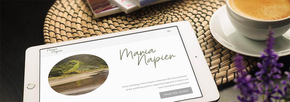 Maria Napier Art website ipad