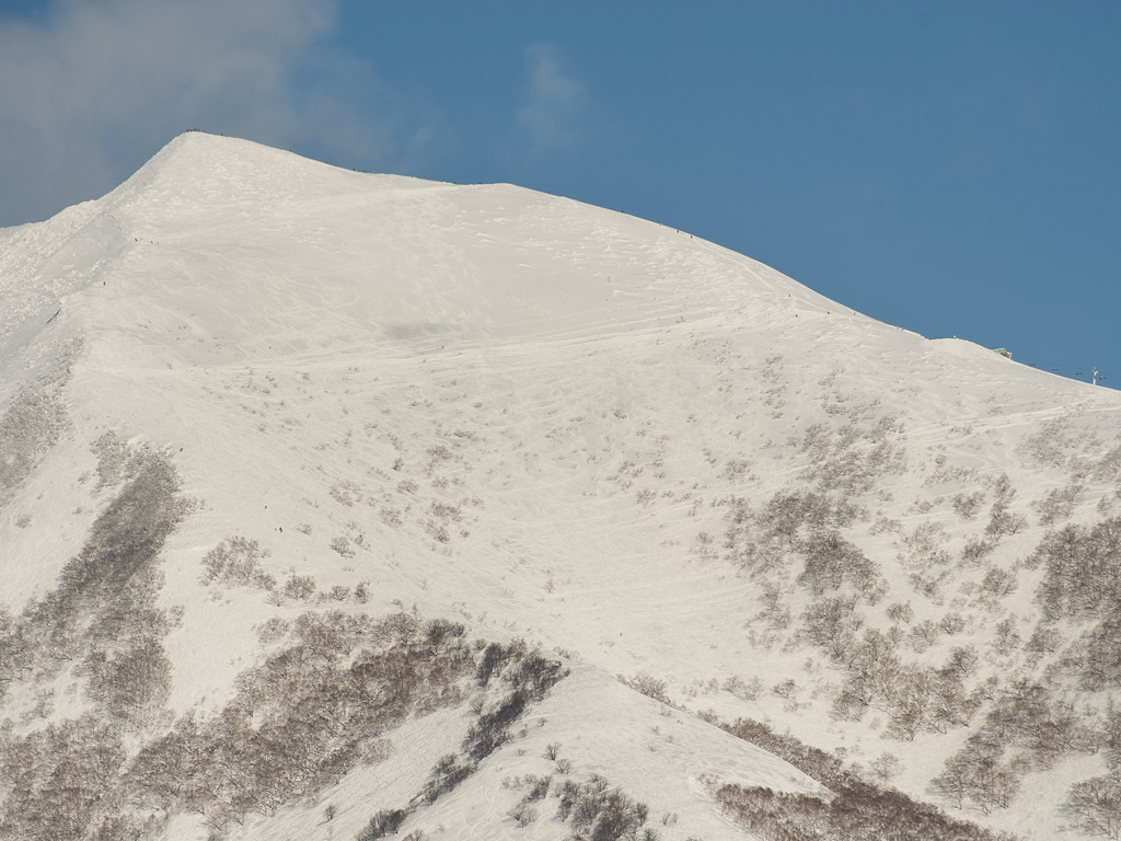 Mt. Annupuri peak and traverse lines into Osawa and the back bowl, 21 January 2013
