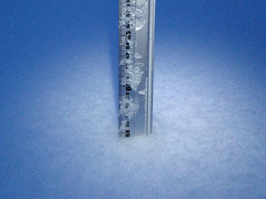 Snowfall depth in Hirafu Village, 27 January 2013