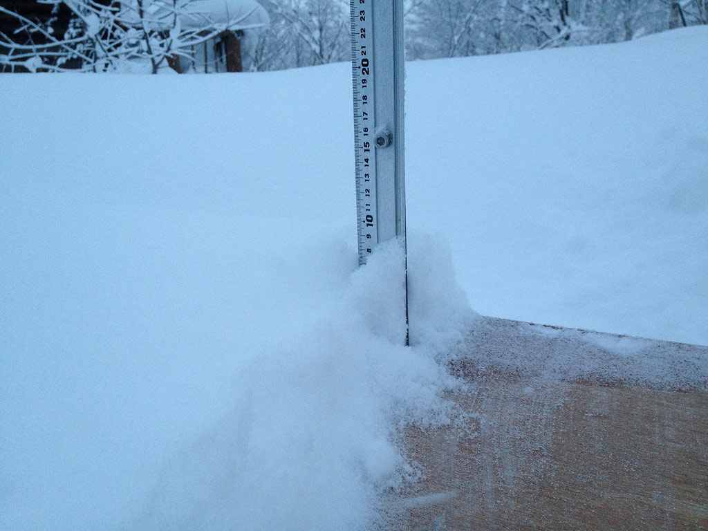 A light and dry 8.5cm of fresh in the last 24hrs, 9 January 2013