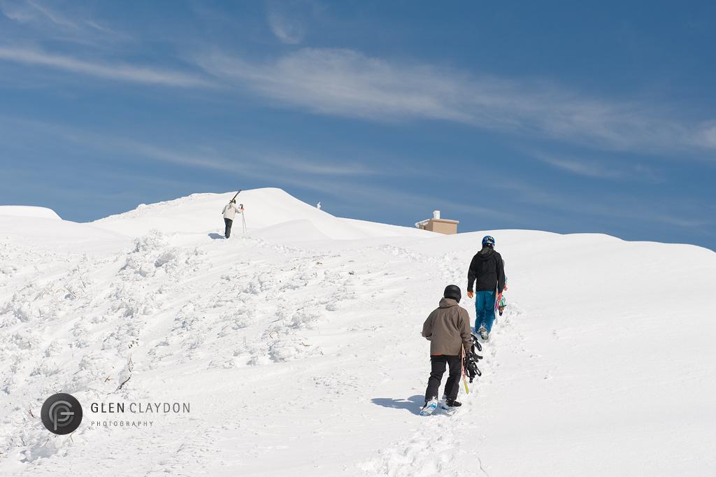 Alex, Stu and James pushing on towards the peak, 21 April 2013