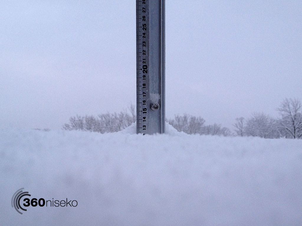 Snowfall depth in Hirafu Village, 13 November 2013