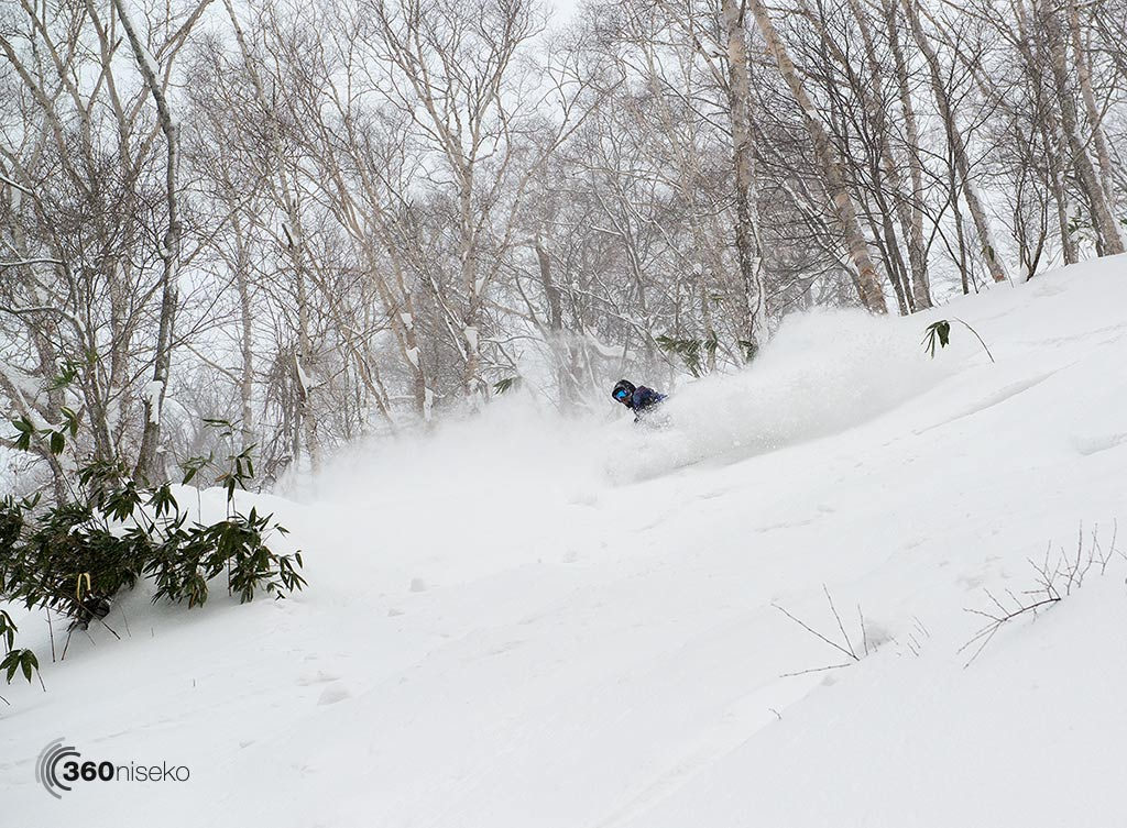 Bill scoring some late afternoon pow in Hanazono, 2 January 2014