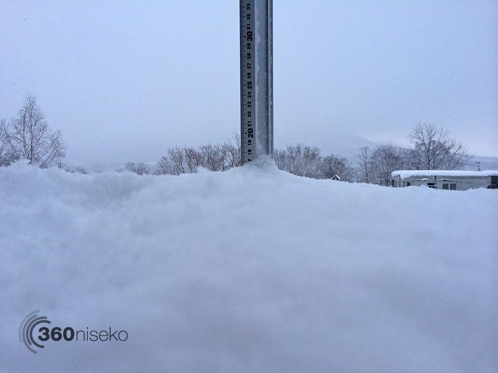 Snowfall in Hirafu Village, 1 January 2014