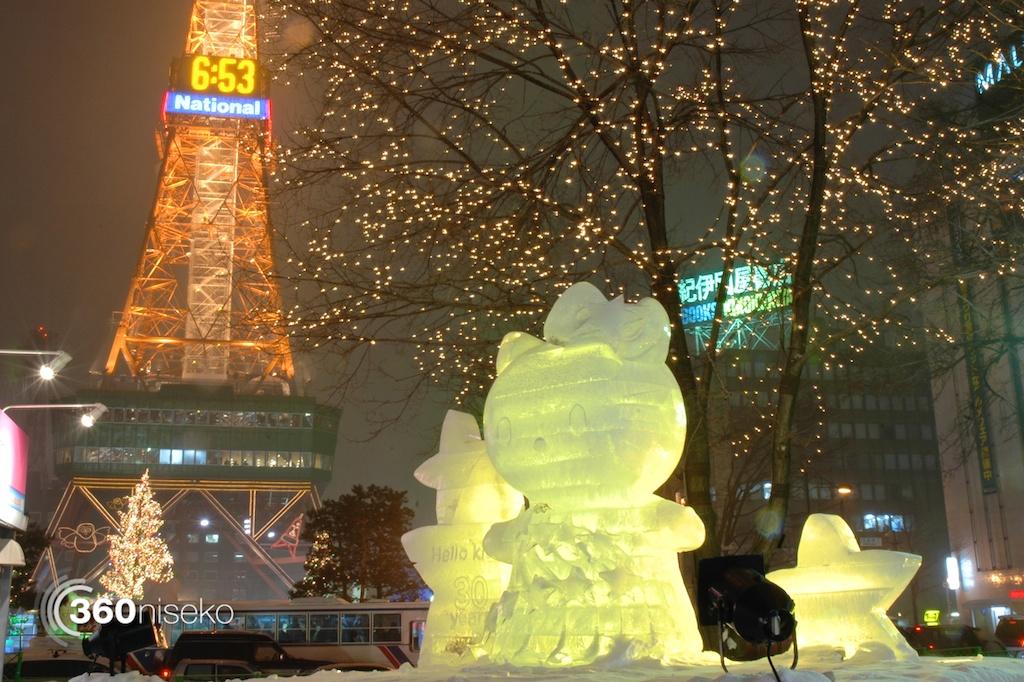 Sapporo-Snow-Festival-2014-Hello-Kitty-Illuminated