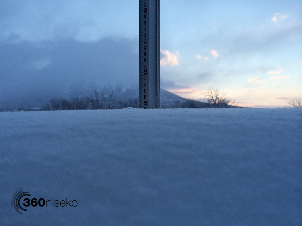Snowfall in Hirafu Village, 6 February 2014
