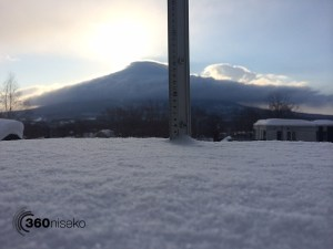 Snowfall in Hirafu Village, 6 March 2014