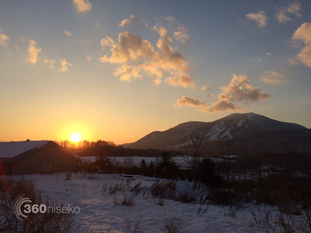 A sweet sunset looking towards Mt. Annupuri from Kutchan, 20 November 2014