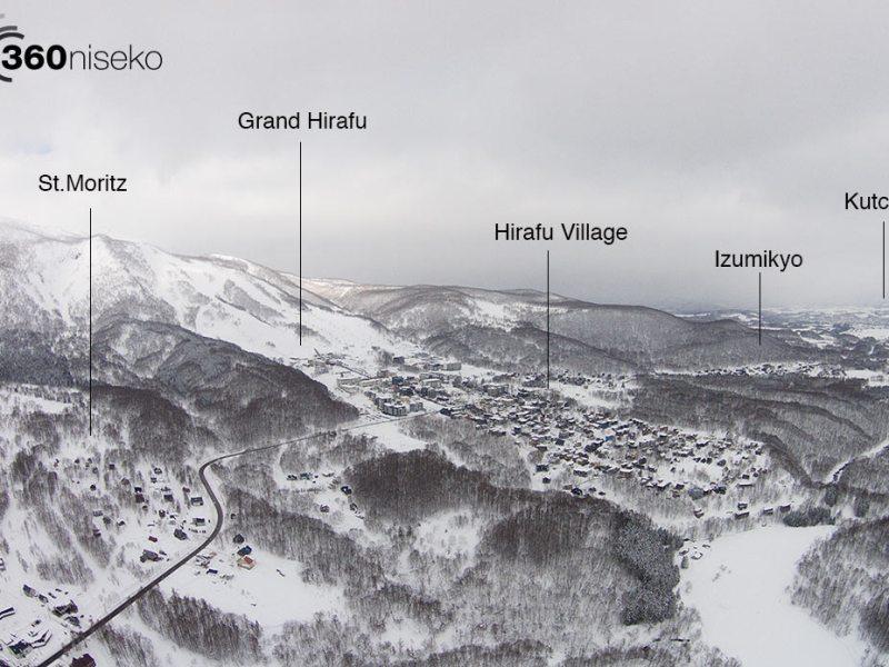 Hirafu village and the surrounding areas, 13 January 2015