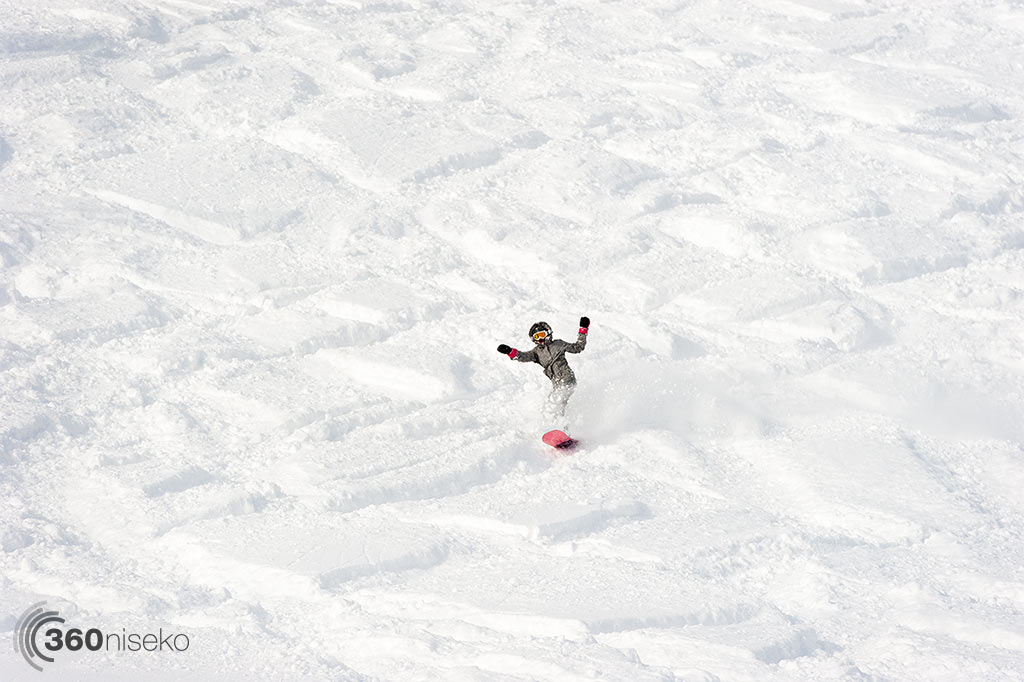 A happy snowboarder, 2 January 2014