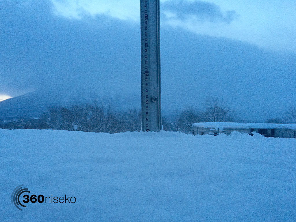 Snowfall in Hirafu Village, 3 January 2015