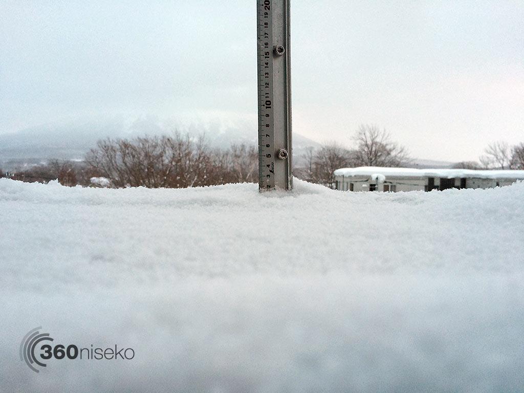 Snowfall in Hirafu Village, 13 January 2015