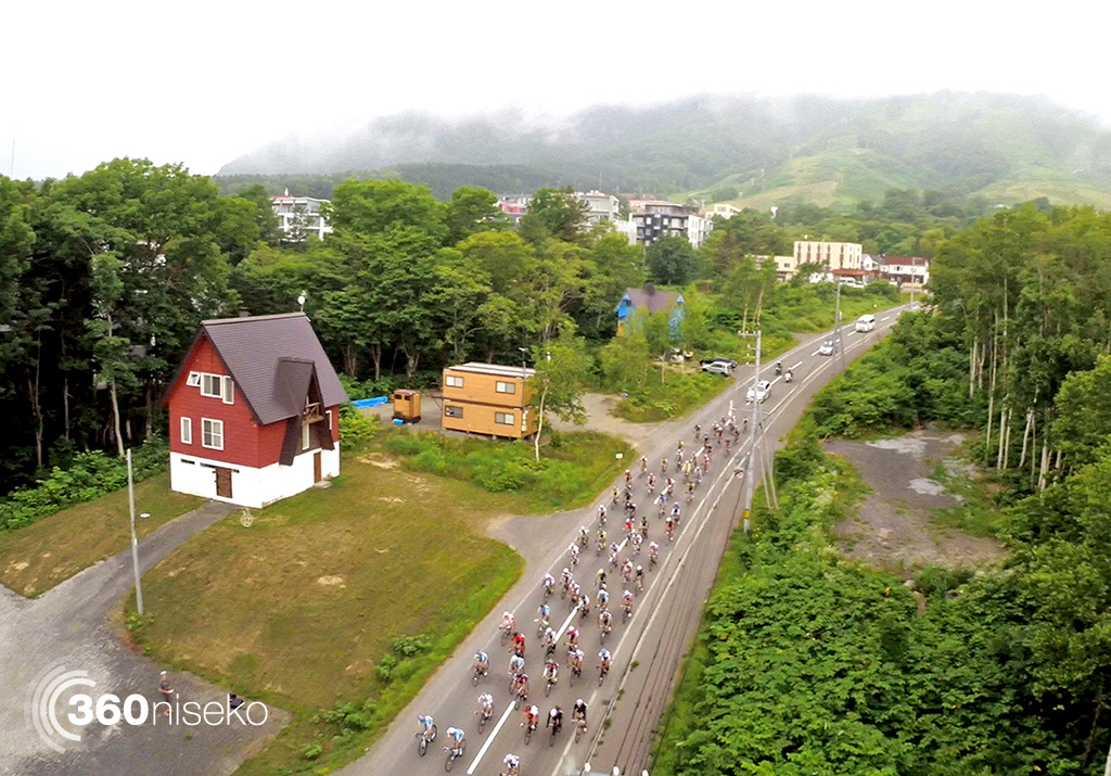 Niseko Classic 140 Km Race Start from Hirafu, 13 July 2014