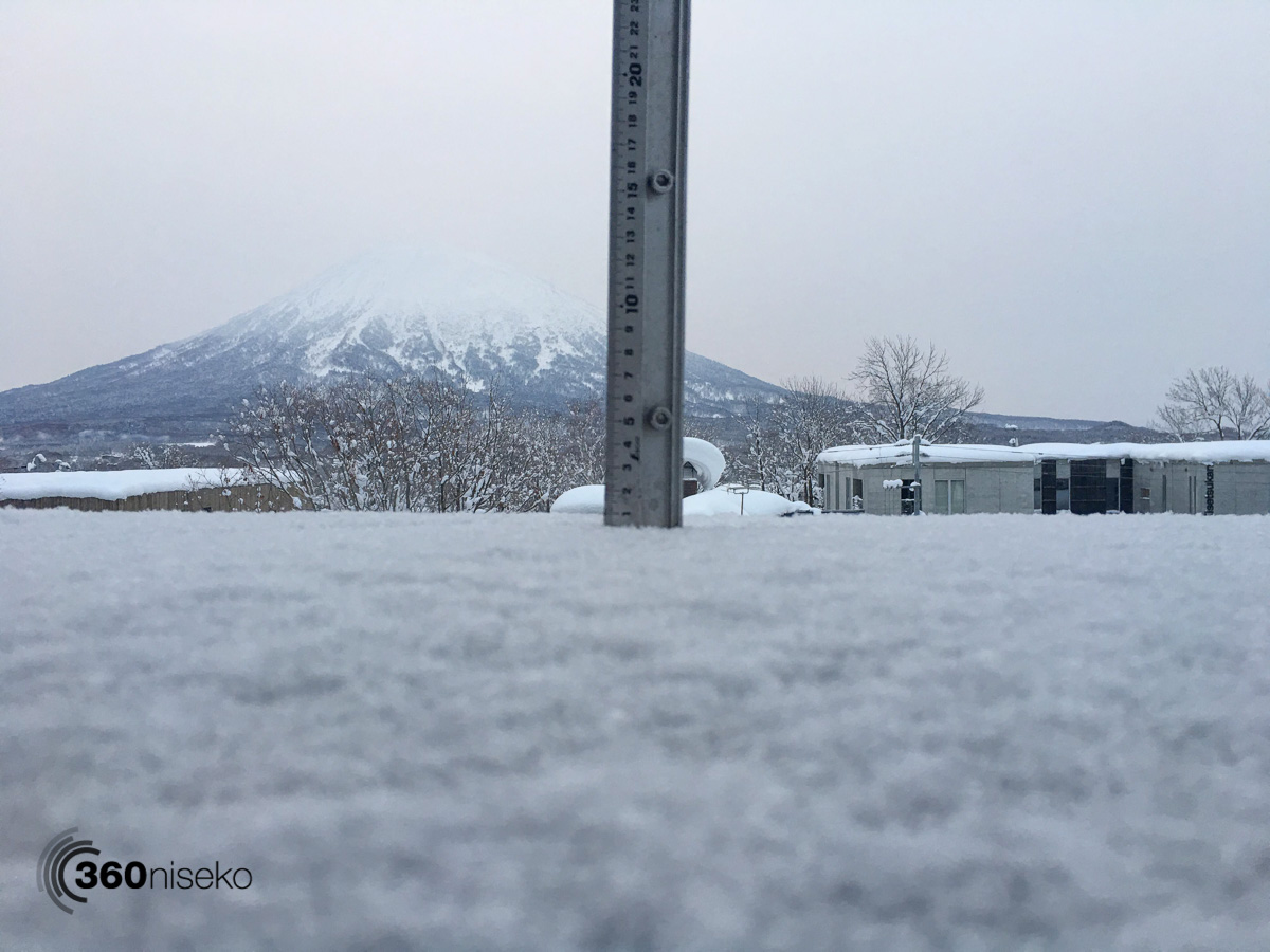Snowfall in Hirafu Village, 18 January 2016