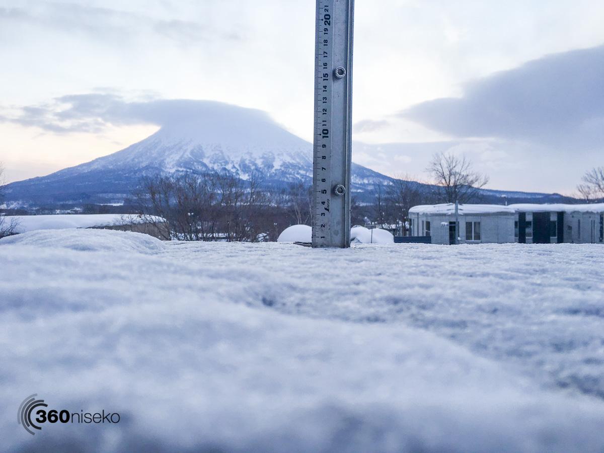 Snowfall in Hirafu Village, 11 February 2016