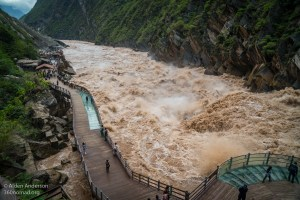 Upper Tiger Leaping Gorge — Boardwalk viewing area (Tiger Leaping Gorge — Complete Hiking Guide)