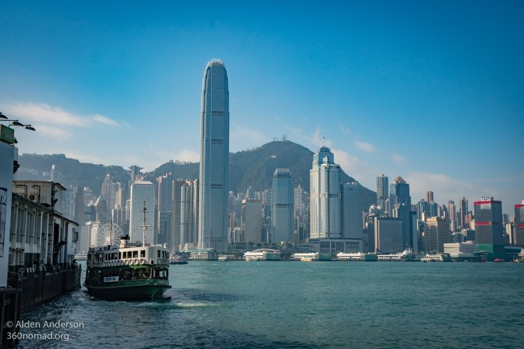The Star Ferry in Victoria Harbour