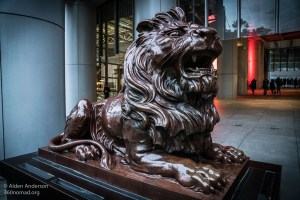 Roaring Stephen protecting the HSBC Headquarters (5 Interestingly Unique Things in Central — Hong Kong)