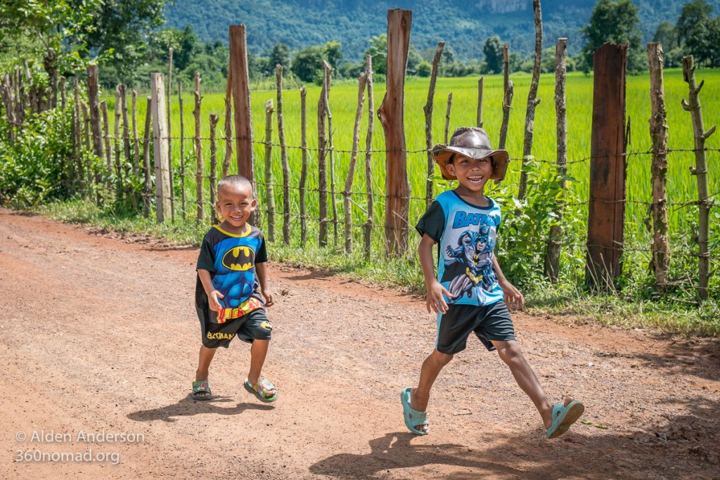 Laos Children Thakhek Loop