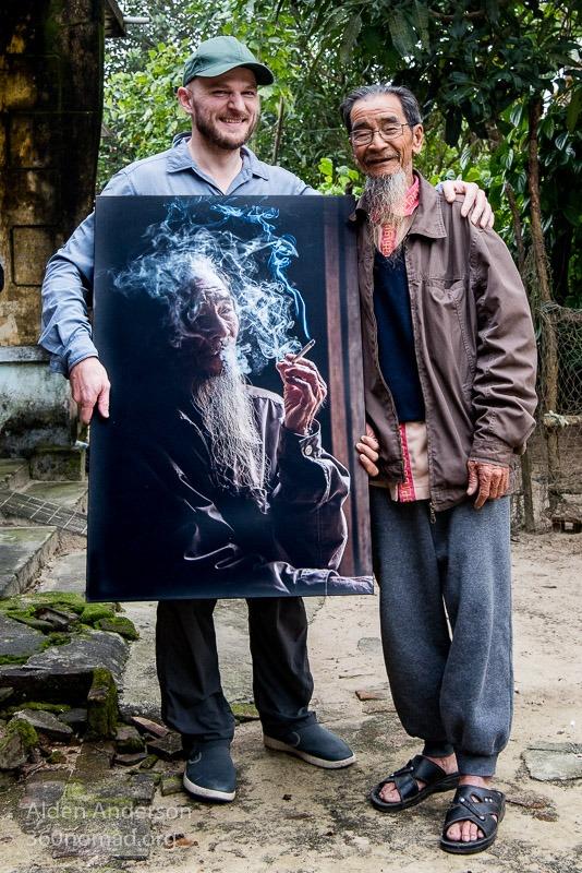 Hien with photo Alden Anderson