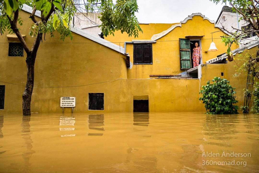 Sa during the flood in Hoi An, Vietnam