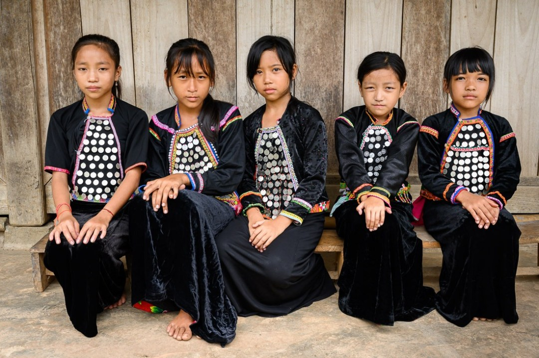 Kids from the SiLa ethnic group in northern Vietnam