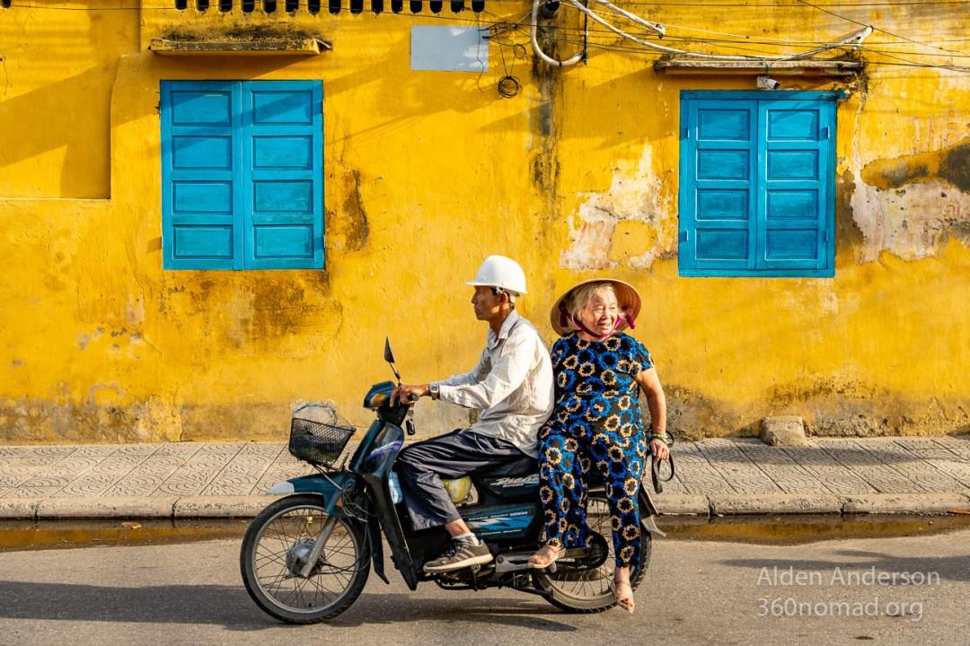 Hue ride to work, Hoi An Vietnam