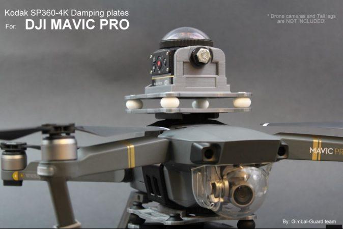 Gimbal Guard mount for Kodak SP360 4k on DJI Mavic Pro