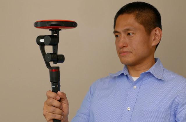 Vuze 3D 360 camera used with a Guru 360 gimbal