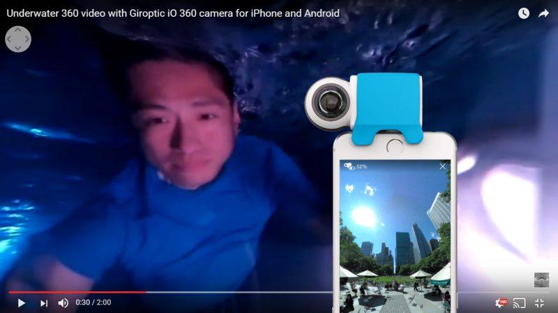 Giroptic iO 360 video and live streaming underwater