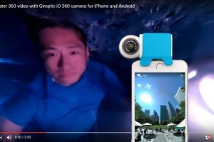 Giroptic iO 360 video and live streaming underwater