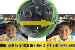 stitching Panono offline and fixing stitching errors