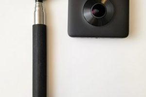 Cheap and invisible selfie stick for 360 cameras