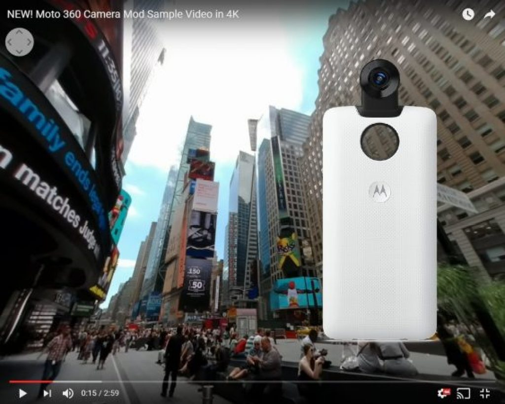 Moto 360 camera sample 4K 360 video