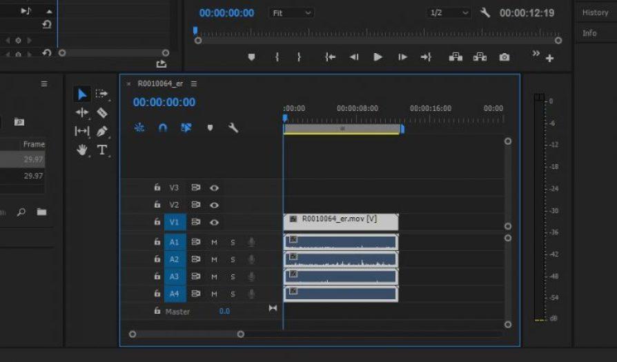 Ricoh Theta V spatial audio in Premiere