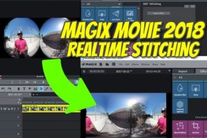 Magix Movie Edit Pro Plus 2018 realtime 360 video stitching