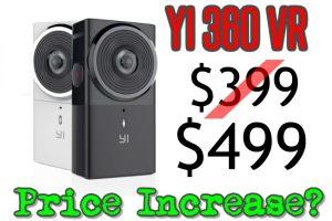 Yi 360 VR price increase
