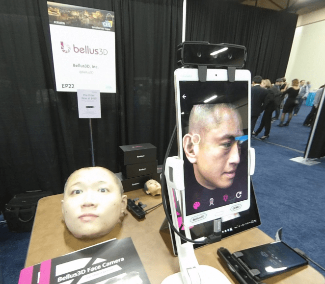 Bellus3D Face Camera Pro scans faces in detailed 3D