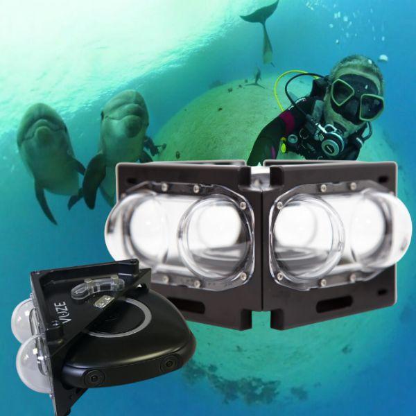 Vuze 3D 360 camera underwater case
