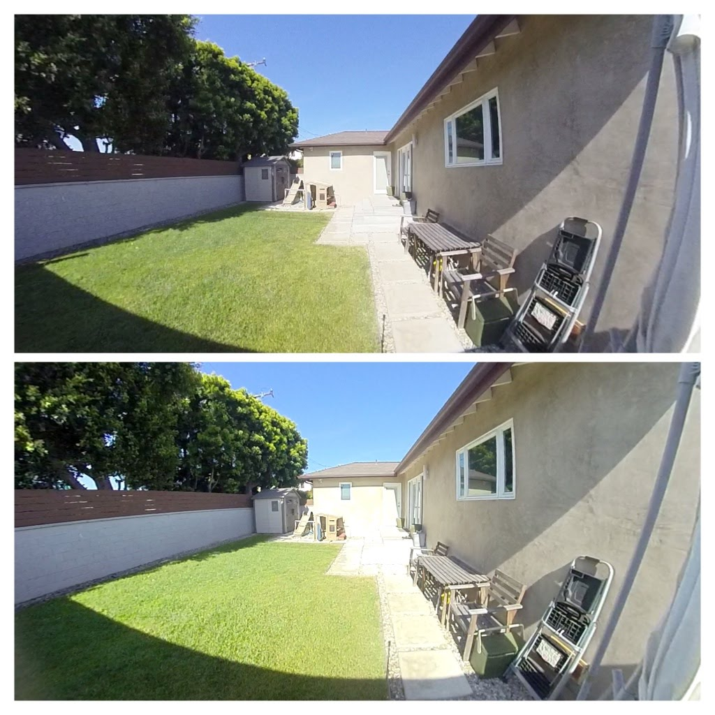 Insta360 ONE firmware 2.2 (top) vs 2.0 (bottom)