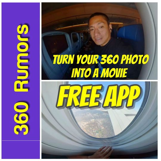 Free app to turn your 360 photo into a custom video