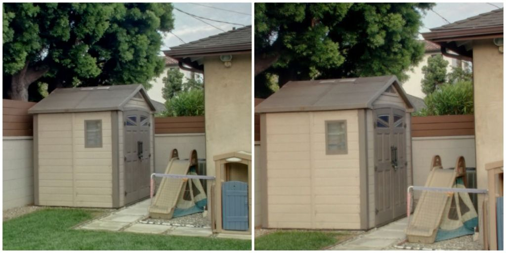 100% crops from Sony a7r 360 photo (left) vs Sony a6000 360 photo (right)