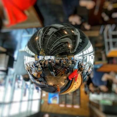 Lensball glass ball photo effect