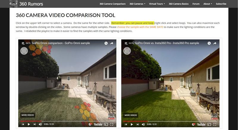 GoPro Omni (360 view) vs. Insta360 Pro (360 view)