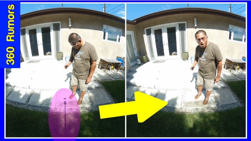 How to remove a tripod from a 360 video or 360 photo