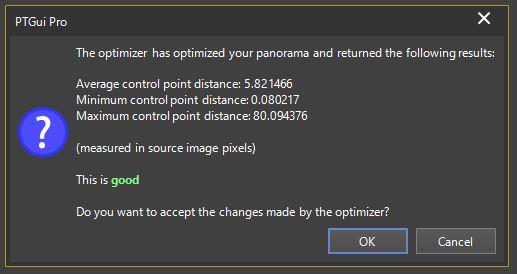 iGo 720 VR stitching quality