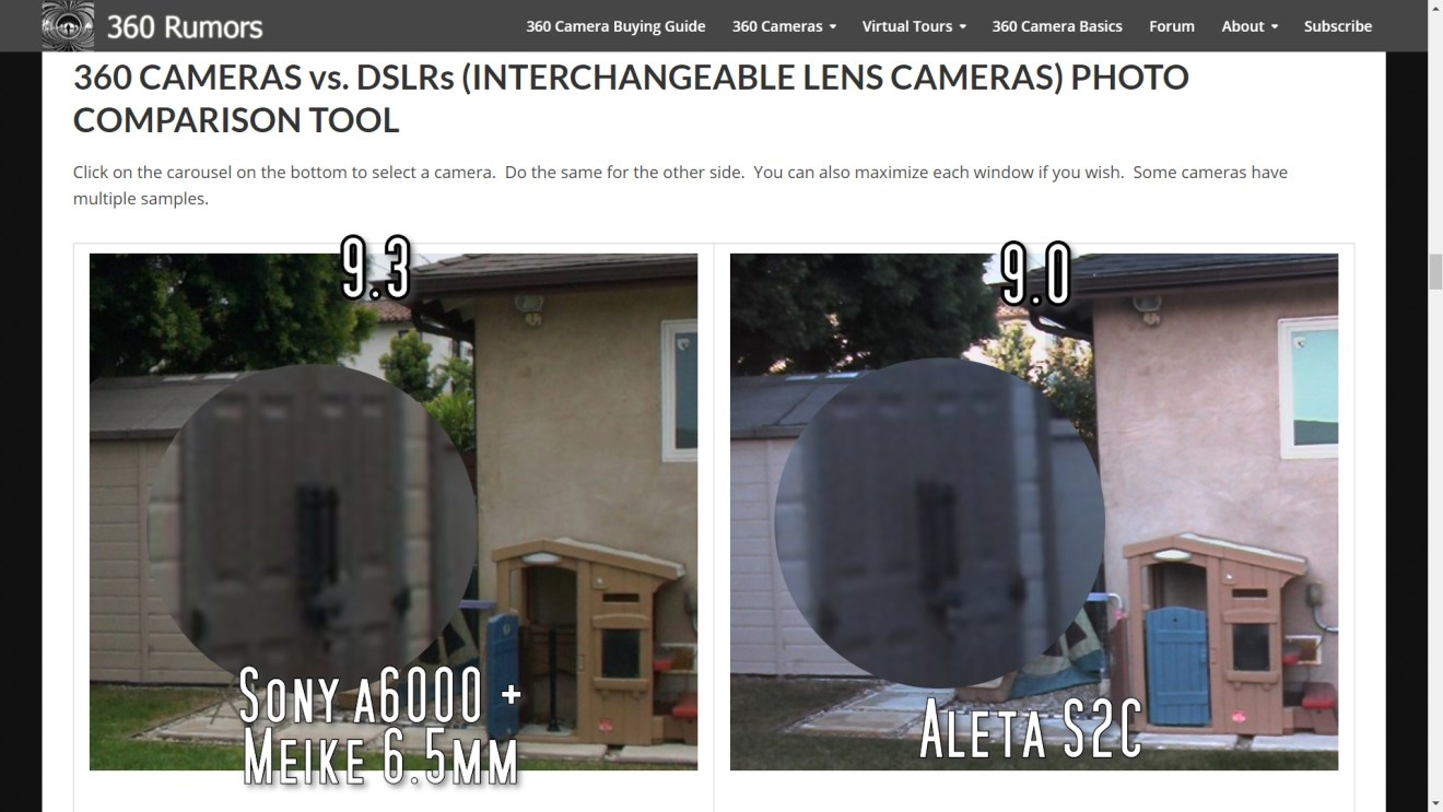 A circular fisheye on a 24mp APS-C camera will have similar detail to the Aleta S2C