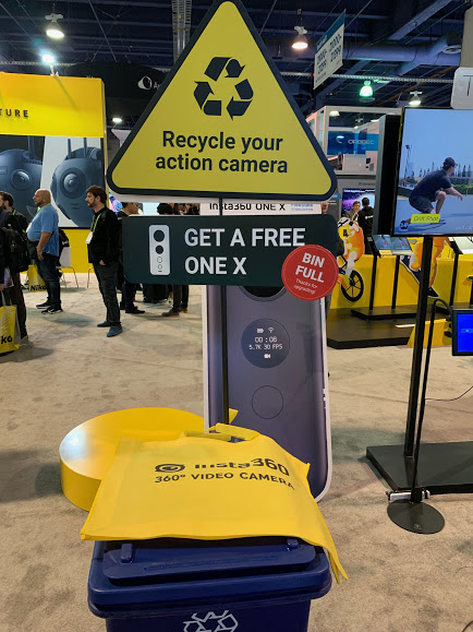 At CES 2018, Insta360 offered free Insta360 One X to anyone who wanted to recycle their action camera
