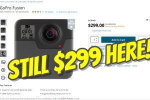 GoPro Fusion sale $299